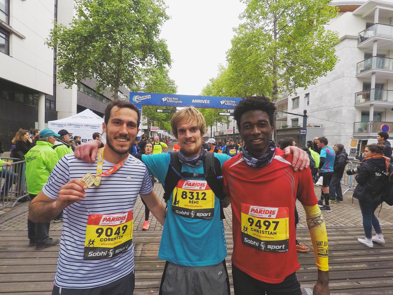 Corentin semi-marathon de Nantes