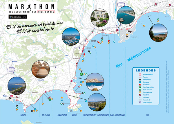 Parcours marathon Nice-Cannes