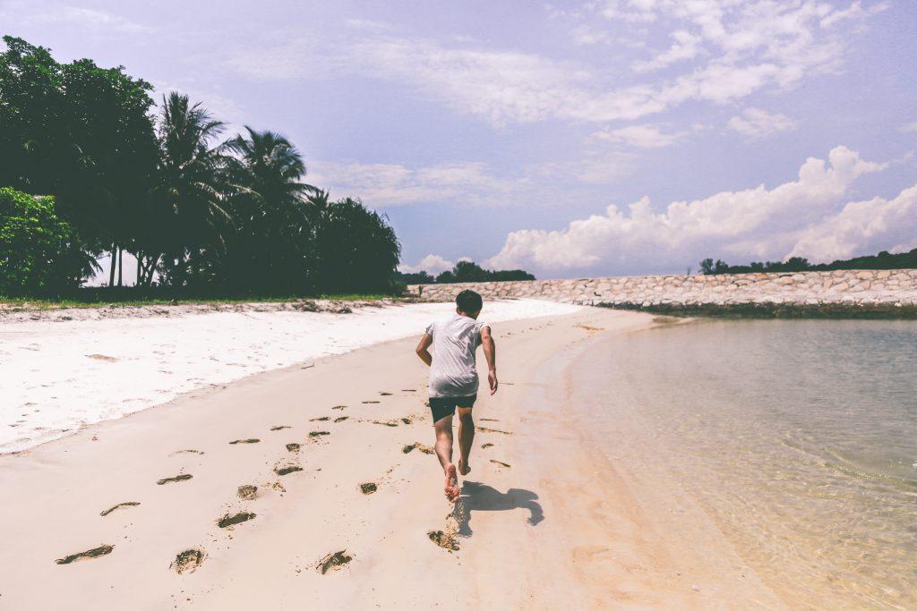 courir sur sable