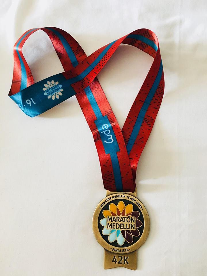 La médaille du Marathon de Medellín