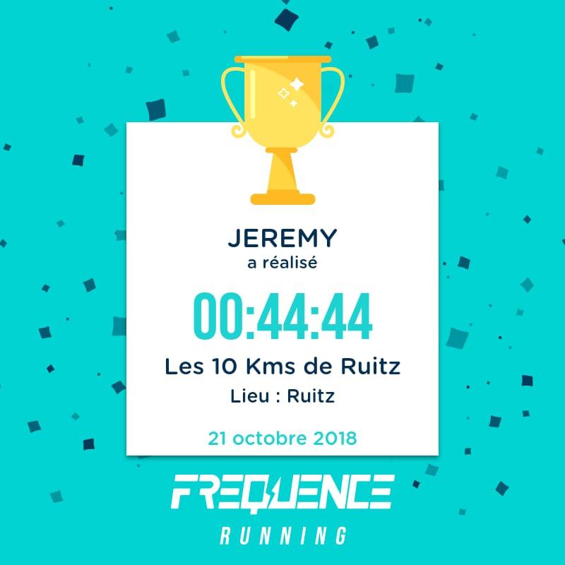 Plan entraînement 10K pour Jérémy