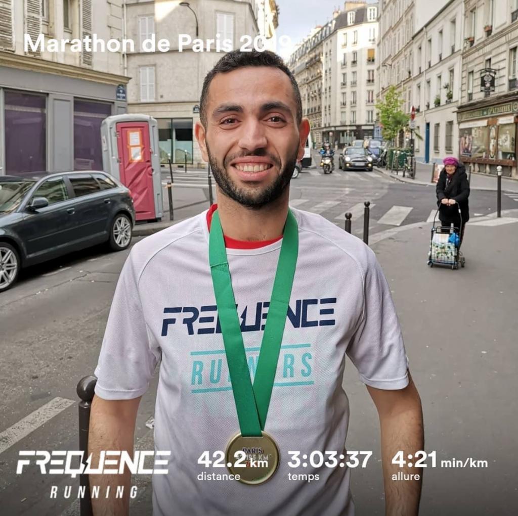 Yacine au marathon de Paris