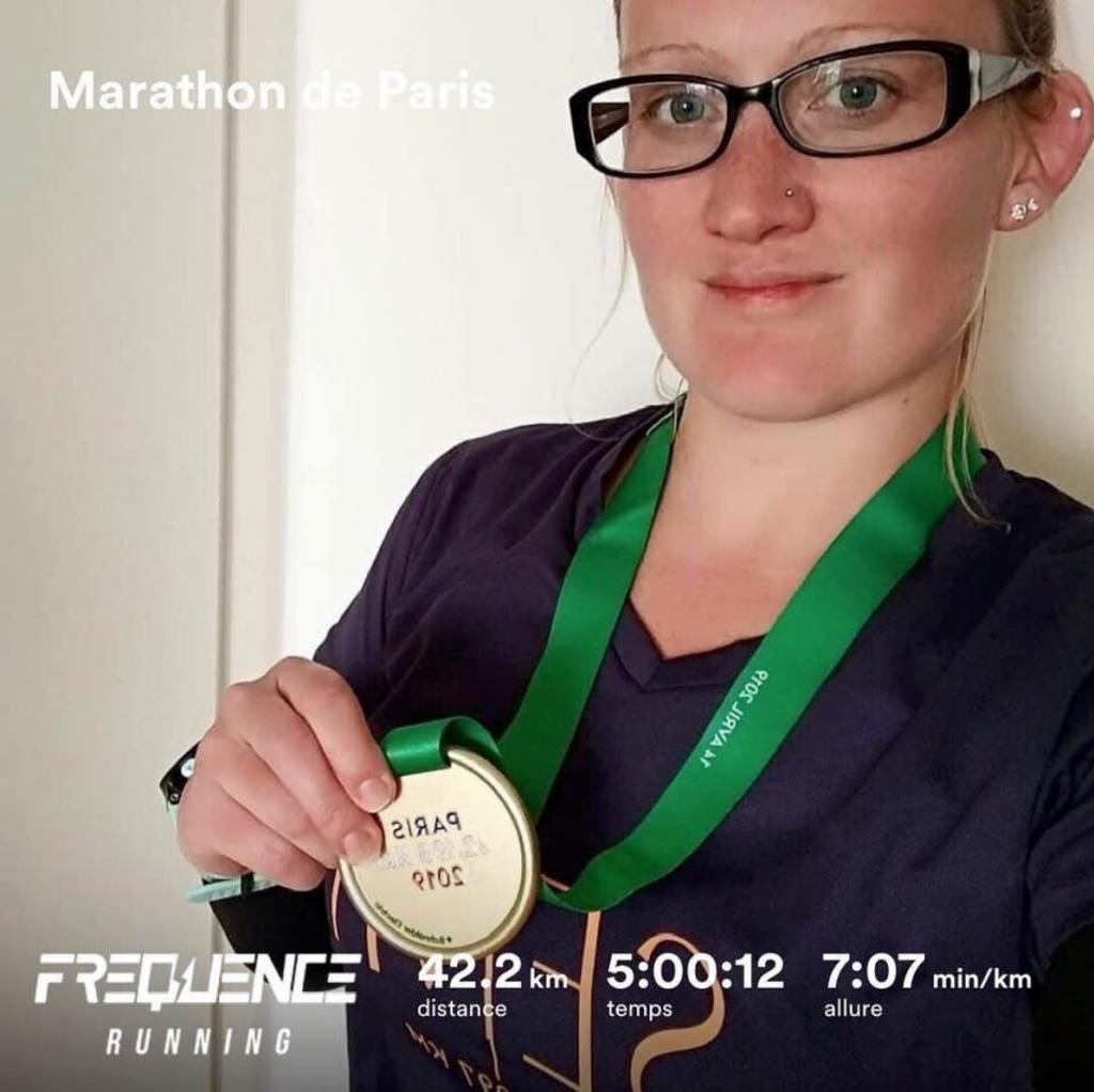 Pauline Martinelli au marathon de Paris