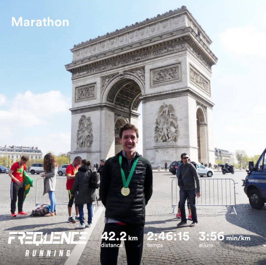 Tom au marathon de Paris