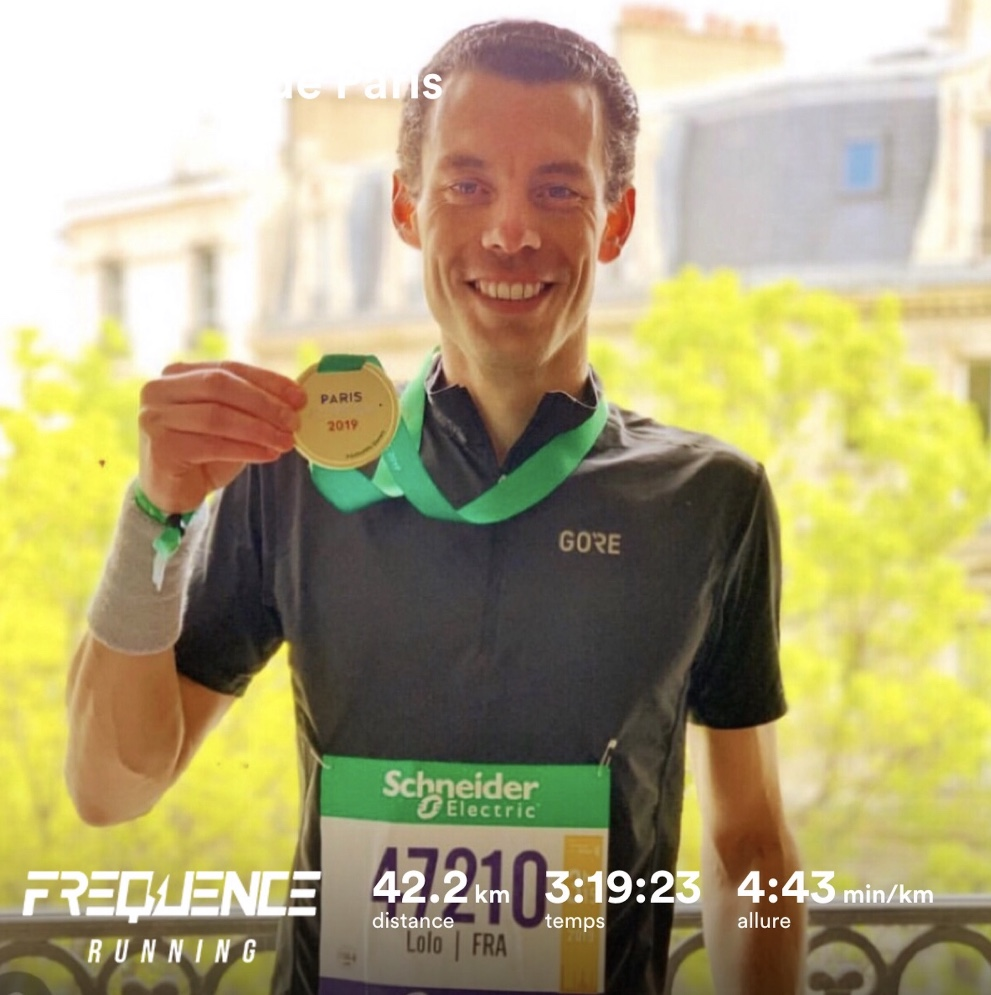 Laurent au marathon de paris