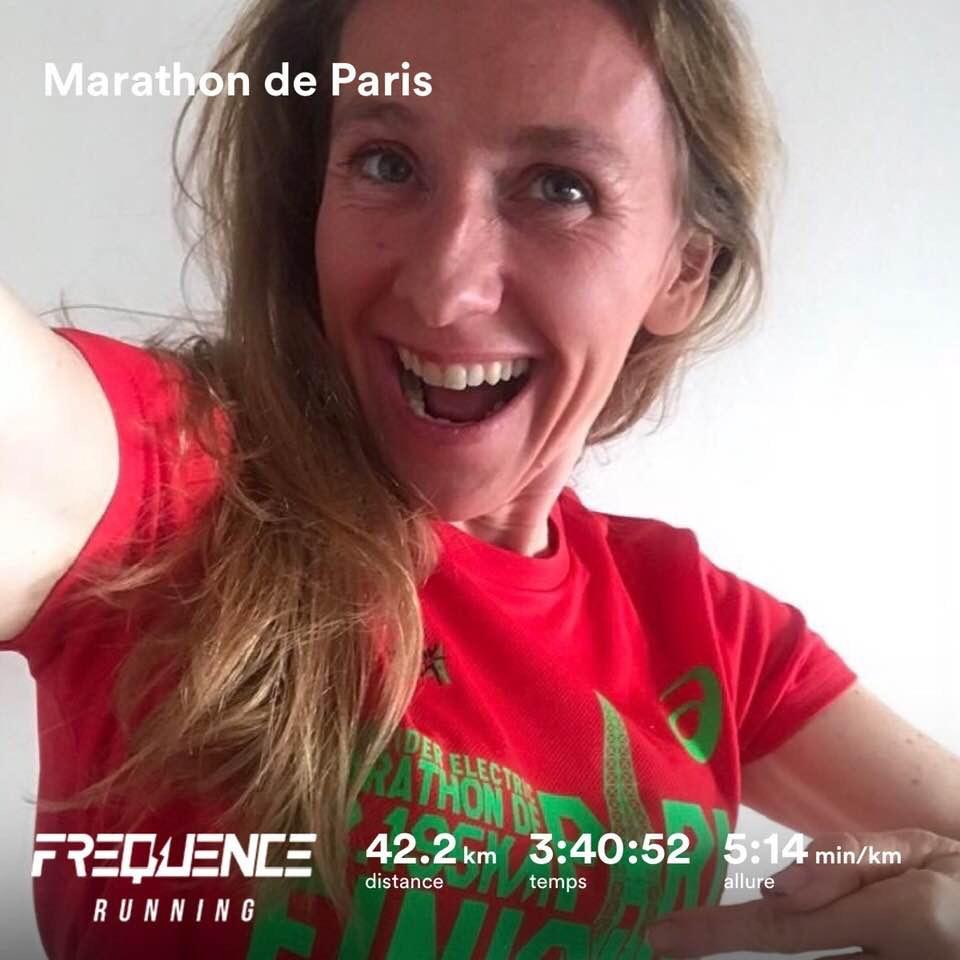 Estelle au marathon de paris