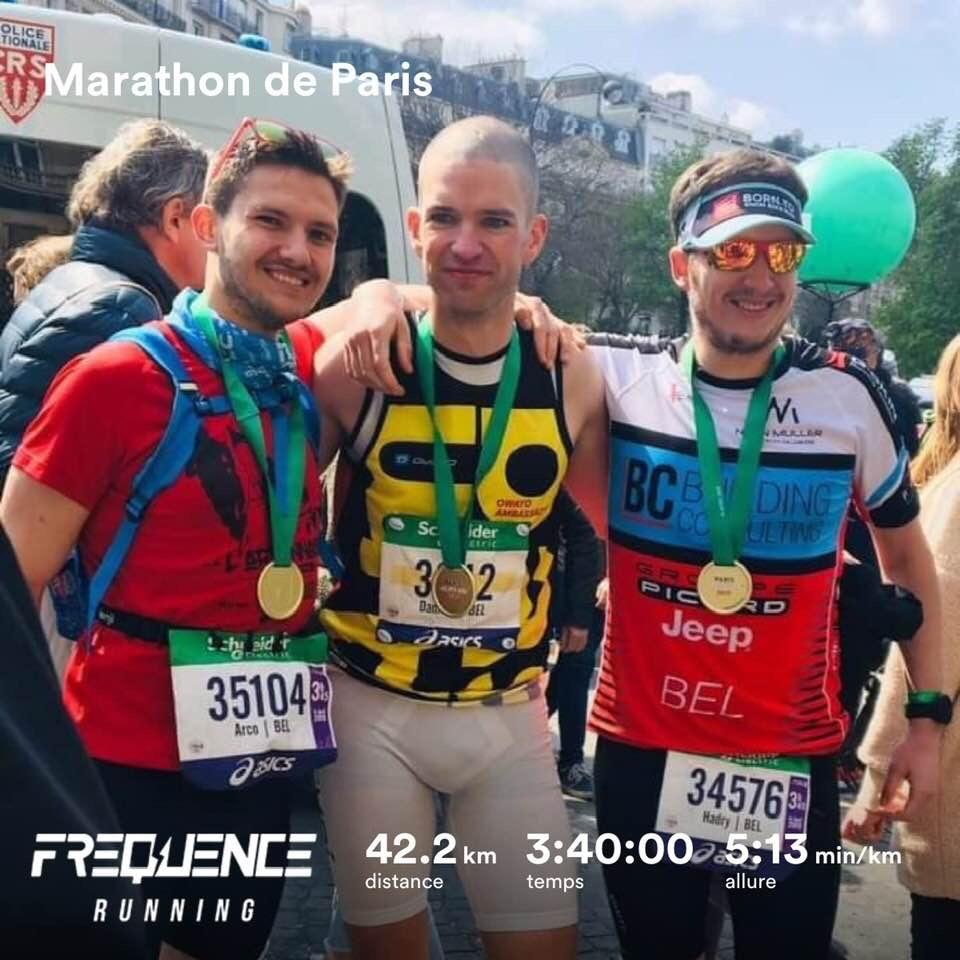 Hadrien au marathon de paris