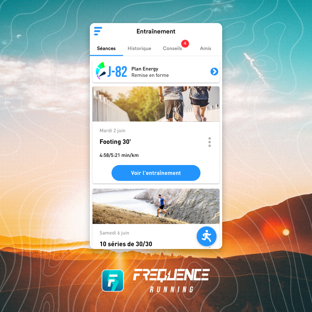 Plan frequence running remise en forme